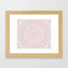 Light Rose Gold Mandala Minimal Minimalistic Framed Art Print