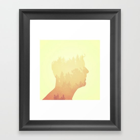 Mind trees Framed Art Print