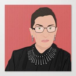 Ruth Bader Ginsburg | Bad Ass Women Series Canvas Print