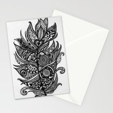 Zen Tangle Feather Stationery Cards