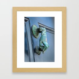 Handy Knocker Framed Art Print
