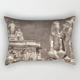 Sepia baroque sculptures in Lisbon Rectangular Pillow