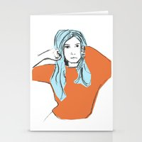 sweater Stationery Cards featuring Sweater Weather by Kelly Lindstrom
