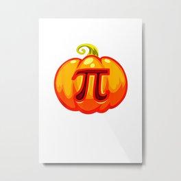 Math Teacher Halloween Costume Pumpkin Pi Pun Pie Gift Men  T Shirt Metal Print