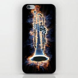 Fire trumpet in concert iPhone Skin