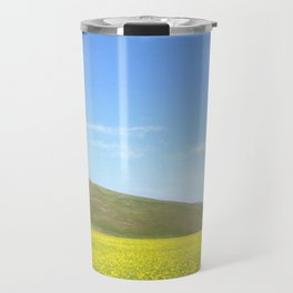 yellow flower field Travel Mug