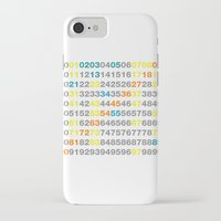 numbers iPhone & iPod Cases featuring Numbers by Andrew Reid