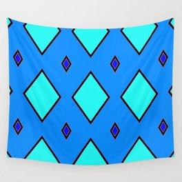 Blue Diamond 2 Wall Tapestry