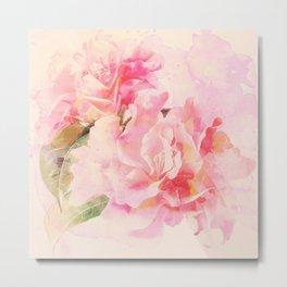 douces fleurs roses Metal Print