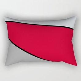 Diagonal Color Blocks in Red and Grays Rectangular Pillow