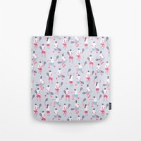 tennis Tote Bags featuring Tennis by Sara Maese