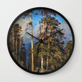 'The Word for World is Forest' by Ivan Shishkin Wall Clock