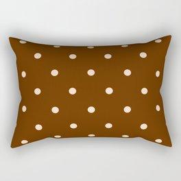 Chocolate Dots Rectangular Pillow