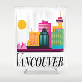 Vancouver Coal Harbour Shower Curtain