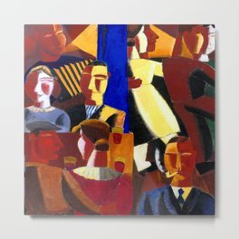 Gustave De Smet At the Cafe Metal Print
