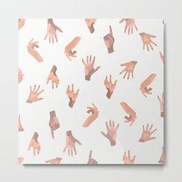Touching Hands Metal Print
