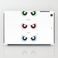 powerpuff girls iPad Cases featuring The Powerpuff Girls by M. C.Tees