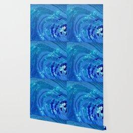 Blue Abstract Modern Art - Infinity - Sharon Cummings Wallpaper
