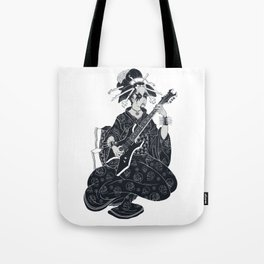 Black Metal Geisha Tote Bag