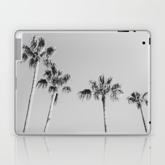 Black Palms // Monotone Gray Beach Photography Vintage Palm Tree Surfer Vibes Home Decor by palmtreeprints