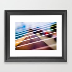 Striped  Framed Art Print