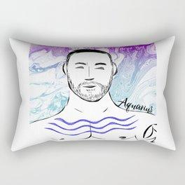 Beard Boy: Aquarius Rectangular Pillow
