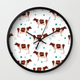 Ayrshires White & Mint Wall Clock