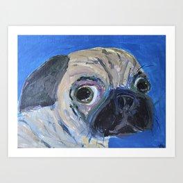 Mr. Floyd the Pug Art Print