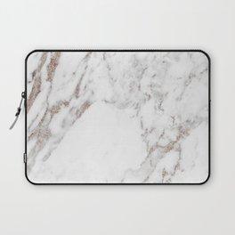 Rose gold shimmer vein marble Laptop Sleeve