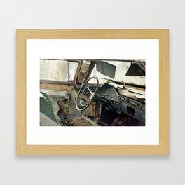 Tired Car. Framed Art Print