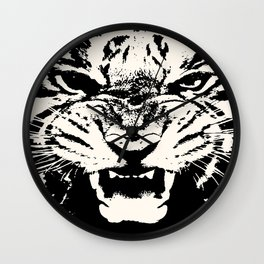 White Tiger Vector Wall Clock