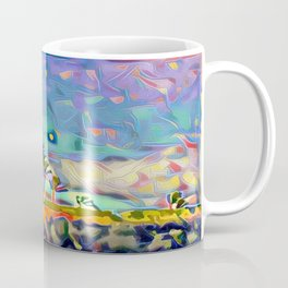 Golden Palm Landscape #3 (Right) Triptych Coffee Mug
