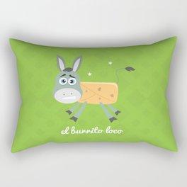 El Burrito Loco illustration Rectangular Pillow
