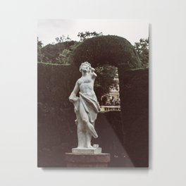 Elegant Renaissance White Marble Statue Photography Metal Print