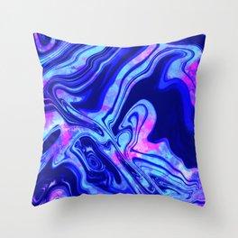 Blue Tie Dye Throw Pillow