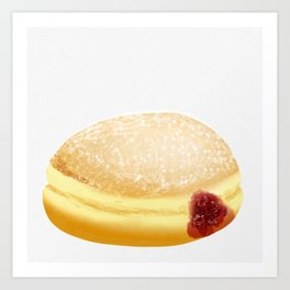 Jelly Donut Art Print