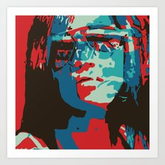 Portrait in Red Art Print
