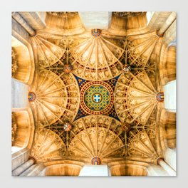Canterbury Cathedral Ceiling Canvas Print