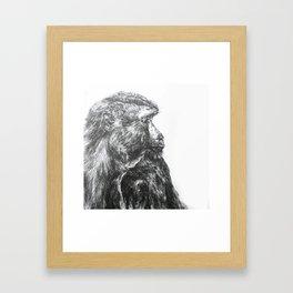 Ink Monkey Profile  Framed Art Print
