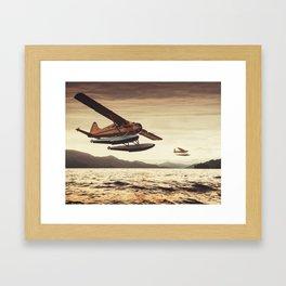 Flying in the Sunset Framed Art Print