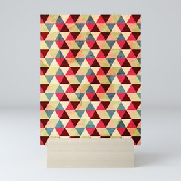 Triangle pattern in used style Mini Art Print