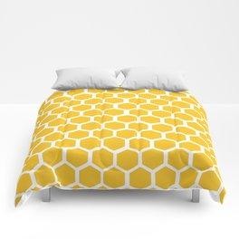 Honey-coloured Honeycombs Comforters