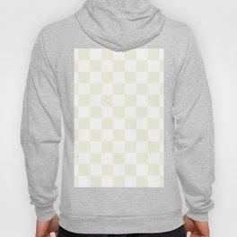 Checkered - White and Beige Hoody