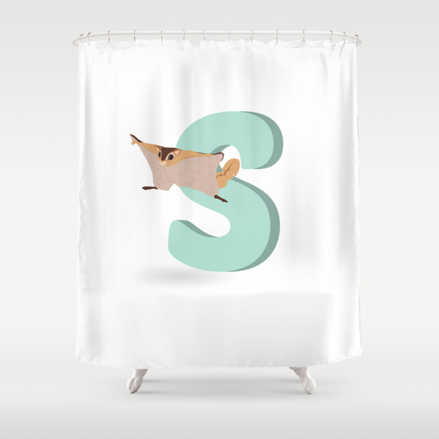 S Is For Sugar Glider Shower Curtain