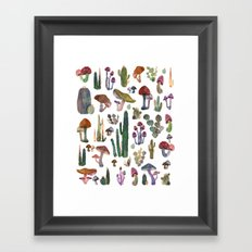 Cactus and Mushrooms NEW!!! Framed Art Print