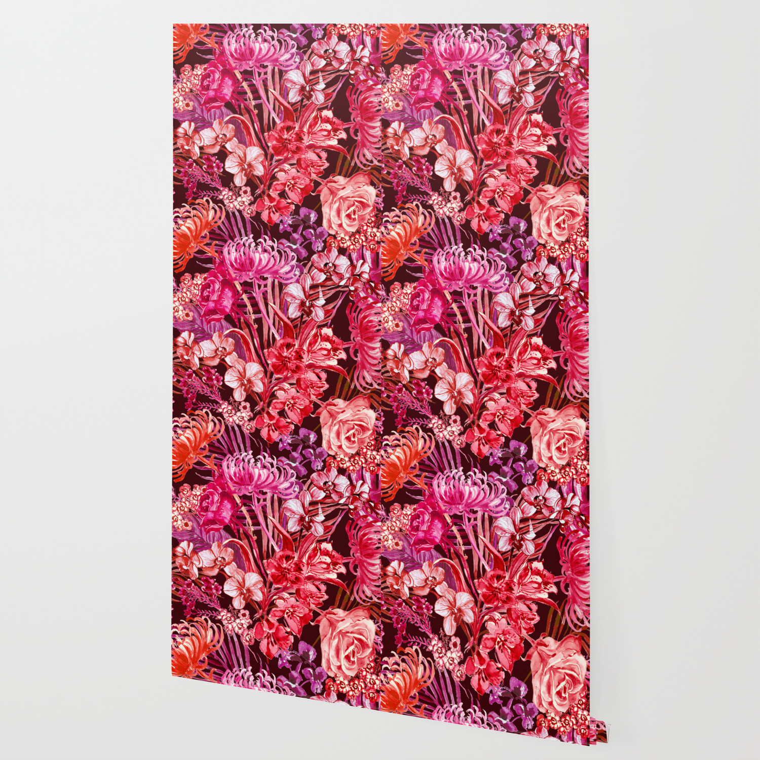 Hot Moody Floral Wallpaper By Bgartman Society6