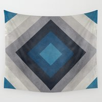 greece Wall Tapestries featuring Greece Hues Tunnel by Diego Tirigall