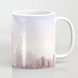 I LOVE PINK NEW YORK CITY SKYLINE - Full Moon Universe Coffee Mug