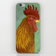 Rooster portrait iPhone & iPod Skin