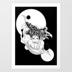 Loreena by carographic, Carolyn Mielke Art Print